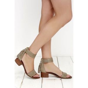 Steve Madden Darcie Taupe Suede Leather Sandals 9